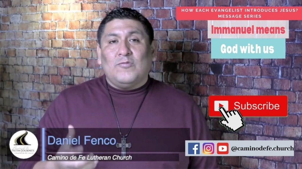 Medsage: Immanuel means God with us