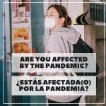 ¿Estás afectado (a) por la pandemia?(